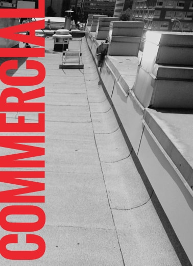 Commercial flat roofing hover