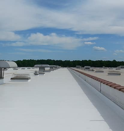 Flat roofing solution
