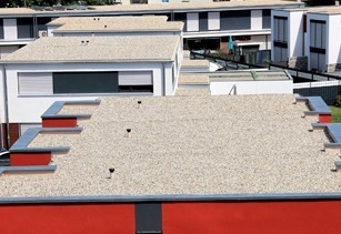 Industrial & commercial flat roofing project