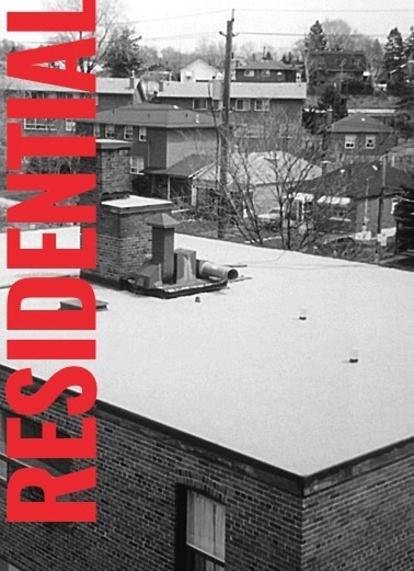 Residential flat roofing hover