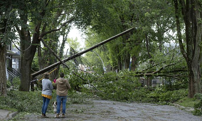 Hurricanes hit Canada
